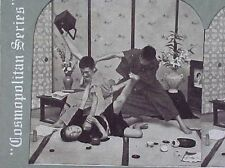 OLD STEREOSCOPE COSMO VIEW JIU JITSU ATHLETE JAPAN NIPPON KARATE REAL PHOTO 1890