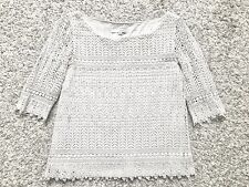 Haut Top BA&SH Dentelle Broderie Blanc Crochet Embroidery White