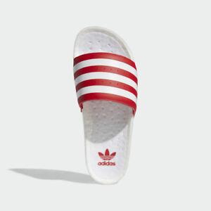 Adidas Adilette Boost Red White Mens Originals Sandals Slide Slippers FX5895 New