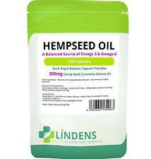 Hemp Seed (hempseed) Oil 300mg -omega 3 & 6, balanced 100 capsules