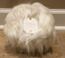 NEW Pottery Barn Faux Fur Mini Hang Around Phone Chair IVORY