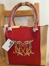 Love Moschino Signature Shopper Bag white gold red Rosso avorio shoulder handbag
