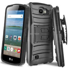 For LG Optimus Zone 3 K4 Rebel Spree Shockproof Rugged Case Belt Clip Holster