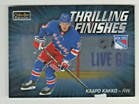 2019-20 OPC Platinum THRILLING FINISHES KAAPO KAKKO RC Rookie New York Rangers