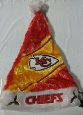 Kansas City Chiefs Team Logo Holiday Plush Santa Hat NEW Christmas Himo