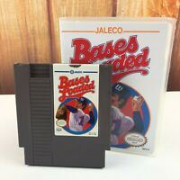 Bases Loaded Nintendo NES Game MLB Jaleco In Plastic Box Case VTG Free Shipping