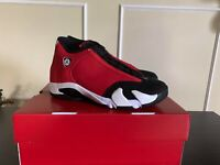 "AIR JORDAN 14 RETRO GYM RED ""TORO"" 487471-006 Size 4.5Y,11 Ready to ship!!"