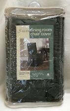 Sure Fit Cotton Duck Solid Moss Green Dining Chair Cover Back Tie New In Package