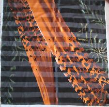 -Superbe grand Foulard  TORRENTE    100% soie mousseline TBEG  vintage scarf