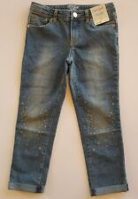 Cat & Jack Girl's Super Skinny Stretch Adjustable Waist Blue Jeans▪Youth Size 10