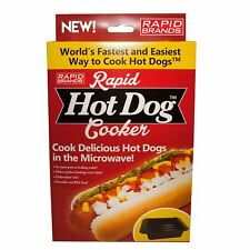 Rapid Hot Dog Cooker - Microwave Hot Dogs in 2 Minutes or Less - BPA Free and