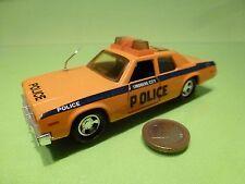 MATCHBOX SUPER KINGS PLYMOUTH GRAN FURY - LINDBERG CITY POLICE - ORANGE  L13.0cm