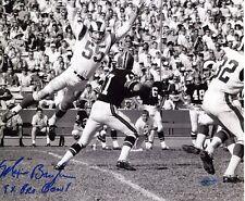 Maxie Baughan Los Angeles Rams Autographed 8x10 w 9 Time Pro Bowl Inscription