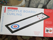 Tabletop Shuffleboard / Curling Table Family Indoor Outdoor Fun Game BRAND NEW