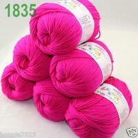 Sale 6 ballsx 50gr DK Baby Soft Cashmere Silk Wool hand knitting Crochet Yarn 35