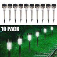 10 Piece Solar Power LED Path Light Outdoor Spot Lamp Yard Garden Lawn Landscape