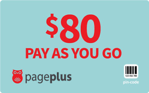 PagePlus  Prepaid $80  1333  Minutes Refill Top-Up Prepaid Card ,PIN / RECHARGE
