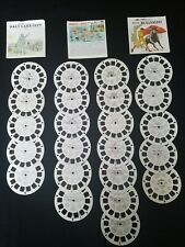 23 View-Master Reel Lot: Dinosaurs, Bullfighting, Bible Stories, Travel, & More