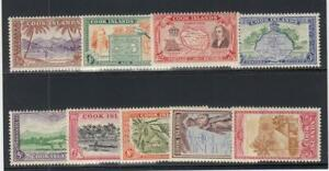 COOK ISLANDS (MM385) # 131-139 VF-MNH VARp,sh 1949 J.COOK /ISLAND SCENES CV $34