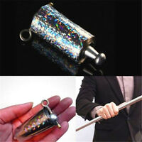 Magic Tricks Appearing Cane Silver Metal Stage Close Up Illusion SILK TO WAND ♫