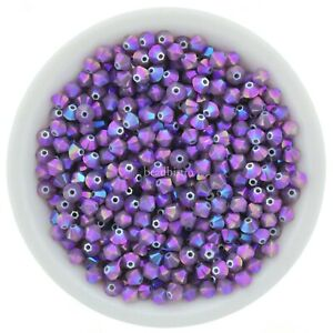 Cyclamen Opal Shimmer 2X 3mm, 4mm, 6mm Swarovski Crystal Bicones
