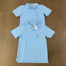Lot of 2 Children's Place Boys Size Medium 7/8 Brook Blue Uniform Pique Polo Nwt
