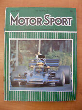 Motor Sport Magazine F1 Sports Road & Historic Cars Issue June 1973 Classic