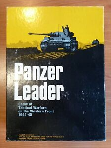 Panzer Leader Book Case Game Of Tactical Avalon Hill's  Jeu Ancien Guerre