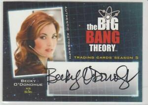 2013 CZE Becky O'Donohue (Siri) (Big Bang Theory) Celebrity Autographed Card