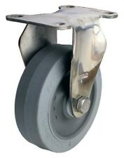 "3DLSSNYB 3/"" x 1-1//4/"" Stainless Steel Swivel Plate Caster with Brake Nylon Wheel"