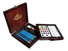 Artist Watercolour Pencils & Paints Deluxe Painting Wooden Box Gift Set WPEN1600