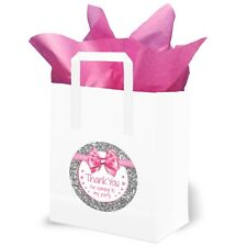 Party Bags - Thank you for Coming to my Party (Pk 10) - Pink / Silver B0787CP33B