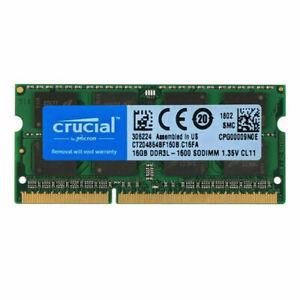 Crucial 1x 16GB PC3-12800 DDR3-1600MHz 204-Pin SoDimm 1,35V