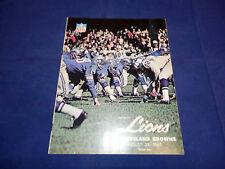 August 29,1965 Detroit Lions VS Cleveland Browns Program