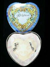 A BRIGHTON Silver Dangle Earrings in HEART TIN