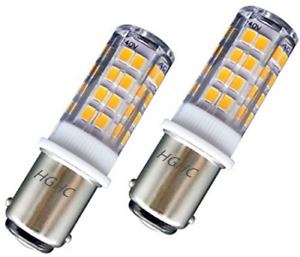 Ba15d LED Light Bulb Sewing Machine Bayonet Bulb, AC220-240V Warm White 3000K,