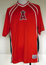 Mlb Majestic Los Angeles Angels Red Polyester S/S Baseball Jersey Shirt Xl