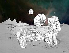 Apollo Moon Mission Landing Lunar Communications Giclee Print NASA Space 11 x 14