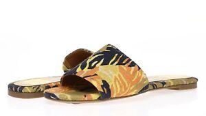 DOLCE VITA Womens Dori Tropical Print Slide Casual Slip On Flats Size 9