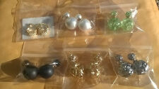 Earrings combination silver black pearl gold plated all 6 pair
