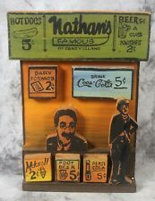 Orig Harry Glaubach Assemblage Artwork 2000 Nathan's Famous Coney Island Hotdogs