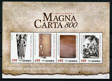 Gambia 2015 MNH Magna Carta 800th Octocentenary King John 4v M/S Royalty Stamps