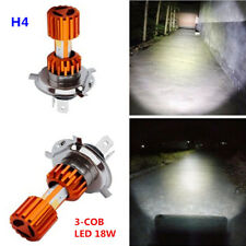 H4 2000LM LED 3-COB Motorcycle Bike Hi/Lo Headlight White Scooter Lamp Bulb 18W