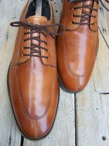 COLE HAAN Mens Dress Shoes Cognac Brown Casual Split Toe Oxfords Size 8M NWOT