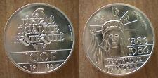 France 100 Francs 1986 UNC Statue Liberty Silver Free Ship Wrld Francs Frc Frc