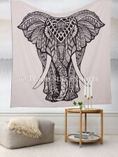 Indian Elephant Tapestry Good Luck Hippie Wall Hanging Large Bedding Throw Decor