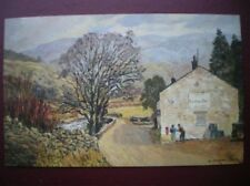 POSTCARD PO BOX 1 ROYAL MAIL HUBBERHOLME - UPPER WHARFEDALE WATER COLOUR PAINTIN