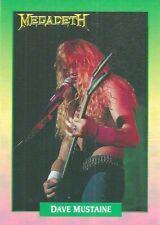 Megadeth  - Dave Mustaine   #93  Brockum RockCards 1991 Trade Card