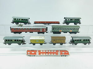 AK66-2# 9x Märklin H0/00/AC Wagen 327,343, 348,381, 382, 391; Bastler/2.Wahl