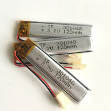 3 x 3.7V 120mAh Lipo Rechargeable Battery For bluetooth MP3 Camera GPS 301048